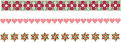 Free Christmas borders clipart set of 3 with flowers, hearts and stars. Free Christmas Borders Clipart, Message Of Hope, Free Graphics, Inspirational Message, Free Coloring Pages, Diy Videos, Sewing Crafts, Hearts, Diy Projects