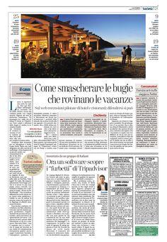 """""""Come smascherare le bugie che rovinano le vacanze"""" - Giuseppe Bottero su La Stampa, 22 Luglio 2013 (in foto il CEO Matteo Hertel)"""