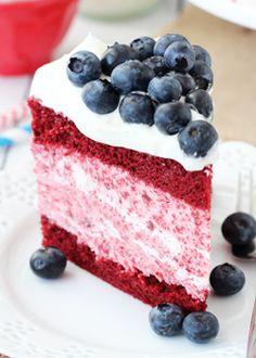 Red Velvet Ice Cream Cake!