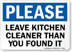Clean Restroom Signs Clipart Kitchen