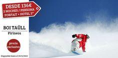 ¡Oferta Hotel 3* + Forfait para el Puente de Diciembre! Inaugura la temporada de Ski en el Pirineo de Lleida! 2,3,4 Noches en Hotel 3* con desayuno y Forfaits incluidos.