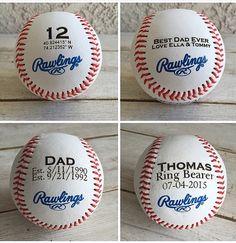 Personalized Gift: Engraved Baseball Wedding by craftupyourlife