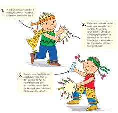 Prépare un spectacle de danse! : Téléchargez et imprimez les instructions. #enfant #jeux #bricolage