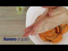 Chips de batata dulce en la panini grill de Oster® - YouTube