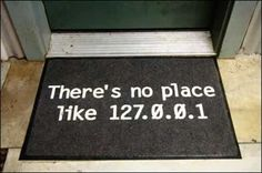 127.0.0.1 Sweet 127.0.0.1 - #home #ip #address #digital #internet #doormat #decoration #geek #style
