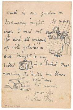 The Morgan Library & Museum Online Exhibitions - Beatrix Potter: The Picture Letters - Letter to to Noel Moore, March 4, 1897, page 4 ///