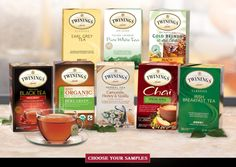 Check out all these fun Freebies and Samples including your choice of FREE Twinings Tea Samples, including Spiced Apple Chai, Earl Grey Tea and more, all great flavors to try for the upcoming Fall season! Irish Breakfast, Apple Breakfast, Green Pumpkin, Pumpkin Spice, Chai, Irish Tea, Tea Website, Brewing Tea, Vinyls