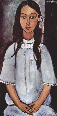Amedeo Modigliani [69] Alice, 1915