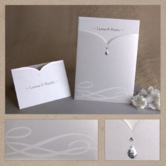Like the shape and pearl drop lines on this card holder