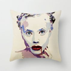 Killing me softly Throw Pillow by AsyaCreativeArt - $20.00