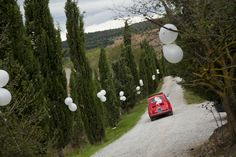 our driveway #tuscan #wedding