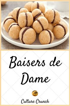 Kissing ladies: the easy recipe- Baisers des dames : la recette facile Kissing ladies cakes - Desserts With Biscuits, Mini Desserts, Dessert Recipes, Arabic Sweets, Arabic Food, Vegan Recipes Easy, Sweet Recipes, Pavlova, Cake Factory
