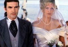 Melanie Griffith and Antonio Banderos  on their wedding Day