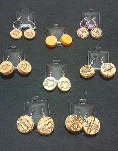 """Suzy's Treasure Chest """"Put A Cork In It"""" Earrings. Suzy's also has an assortment of jewelry and other gifts perfect for any wine enthusiast."""