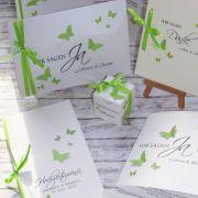 Besondere Einladungen/Karten Zur Hochzeit Und Taufe Mit Schmetterlingen  Oder Im Vintage  Style Mit Spitze