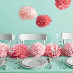 Our Pink Medium Tissue Paper Pom Poms are fun and festive party decorations in a beautiful shade of pink. Each set of Pink Tissue Pom Poms contains eight pom poms.