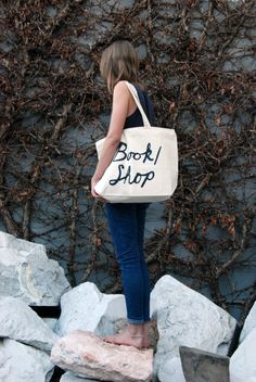 book/shop canvas tote