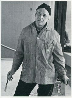 Willem de Kooning in his studio in Springs, NY, 1964, by Hans Namuth