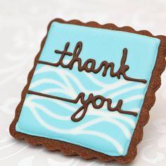 Beach Wedding Cookie Favors - Thank You - Aqua Wave // 12 // Wedding Favors Beach // Bridal Shower Favors // Party Favors. $38.60, via Etsy.