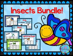 Insects Interactive Writing Printables and Fast Facts Graphic Organizer Bundle Kindergarten Activities, Science Activities, Teaching Math, Teaching Resources, Homeschooling Resources, Science Resources, Teaching Ideas, Elementary Teacher, Kindergarten Classroom