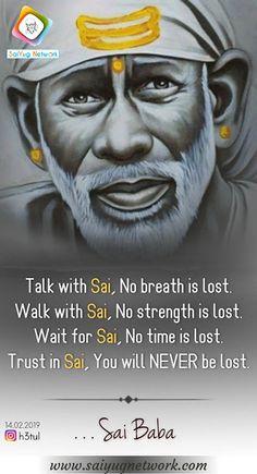 One Word Quotes, Love Picture Quotes, Sai Baba Miracles, Thursday Greetings, Shirdi Sai Baba Wallpapers, Indian Spirituality, Sai Baba Hd Wallpaper, Sai Baba Quotes, Sai Baba Pictures