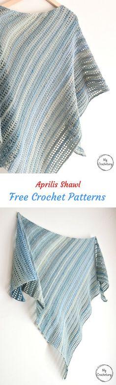 Aprilis Shawl Free Crochet Pattern #crochet #crafts #homemade #style #fashion