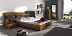 DORMITORIO 11. Dormitorio modular de 286 cm de ancho. Bedroom Interiors, Bedroom Bed Design, Modern Bedroom, Master Bedroom, Bed Furniture, Furniture Design, Wooden Beds, Bedroom Design Inspiration, Bed Designs