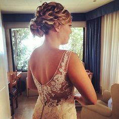 """An up idea but don't know of its """"soft"""" Red Christmas, Christmas Wedding, Wedding Hair And Makeup, Hair Makeup, Headband Hairstyles, Wedding Hairstyles, Summer Wedding, Dream Wedding, Wedding Stuff"""