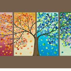 Four seasons tree :) Gonna paint this here soon. Excited.