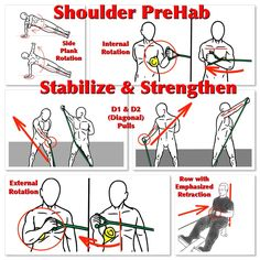 Strengthen and Stabilize the Shoulders with these PreHab Exercises!  For detailed instructions, check out: https://www.facebook.com/Michael.Rosengart.CSCS/posts/893547804045538  #prehab #shoulderprehab #shoulderstability