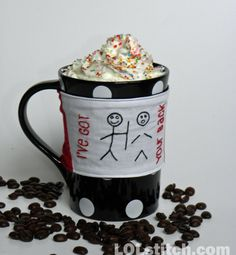 I've Got Your Back  Funny Coffee Cozy  Hand by LOLstitch on Etsy, $17.00