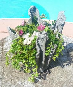 How to Make Cement Draped Planters