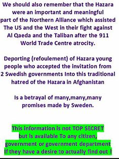 "2 Swedish Prime Ministers invited them to Sweden.and they get treated like criminals,and then forcefully deported despite all Sweden's ""Human Rights' talk ! Sweden News, World Trade Center, Betrayal, Young People, Human Rights, Invitations, Wedding Ring, Save The Date Invitations, Shower Invitation"