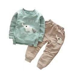 11a7f0685 Baby Boy's Cotton Clothing Set with Elephant Pattern Price: 10.46 &  FREE Shipping #