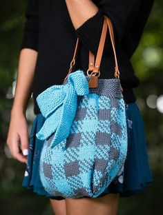 Knitting pattern on Sharon Tote