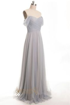 A-line Sweetheart Tulle Floor Length Bridesmaid Dresses AM405