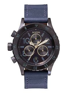 Men's Wrist Watches - Nixon Womens A5041930 3820 Chronograph Leather Watch ** Find out more about the great product at the image link.