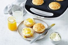 With just 4 ingredients and a Kmart pie maker at the ready, it's possible to whip up some of the fluffiest lemonade scones you'll ever try. Vegetable Frittata, Baking Recipes, New Recipes, Potato Patties, Zucchini Fritters, Chocolate Biscuits, Sausage Rolls, Mini Pies, Perfect Breakfast