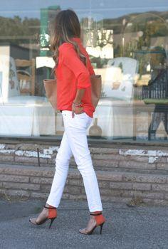 Love this orange blouse!