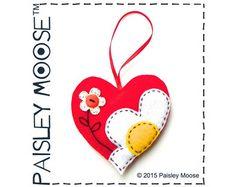 Corazón decorativo Kit ornamentan de flores de por PaisleyMoose
