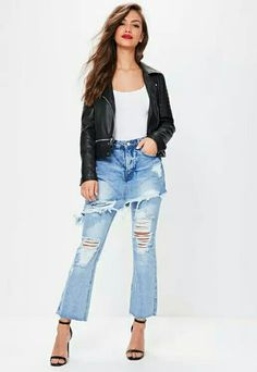You can never have too many jeans so click this way to shop the newest collection of skinny, mid rise and high waisted jeans at Missguided. Ripped Mom Jeans, Boyfriend Jeans, Layered Skirt, Jean Skirt, High Waist Jeans, Missguided, Fitness Fashion, Skinny, Pants