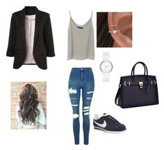 """Sans titre #163"" by melissandre-2000 on Polyvore featuring mode, Topshop, NIKE et DKNY"