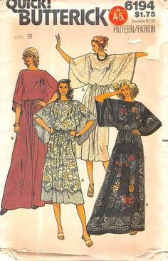 BUTTERICK 6194 - FROM 80S - UNCUT - MISSES TOP & SKIRT