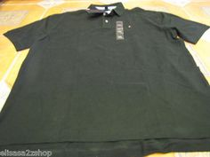 Men's Tommy Hilfiger Polo shirt NEW NWT solid XL Pine 350 green 7817532 TH knit