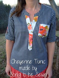 Cheyenne Tunic - Gingham and Floral