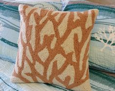Branch Coral Taupe Hook Pillow