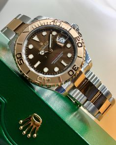 8b36ae02699 Rolex Yacht-Master 40 Steel   Everose Gold Chocolate Dial 116621
