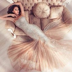 Mermaid Prom Dresses,Champagne Prom Dress,Prom dress,Modest Evening Gowns,Elegant Party Dresses,Long Evening Gowns