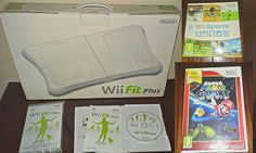 Nintendo Wii balance/Fitness Board + Wii Fit Plus + Mario Galaxy + Wii Sports ☺♥
