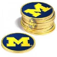Michigan Wolverines 12 Pack Collegiate Ball Markers